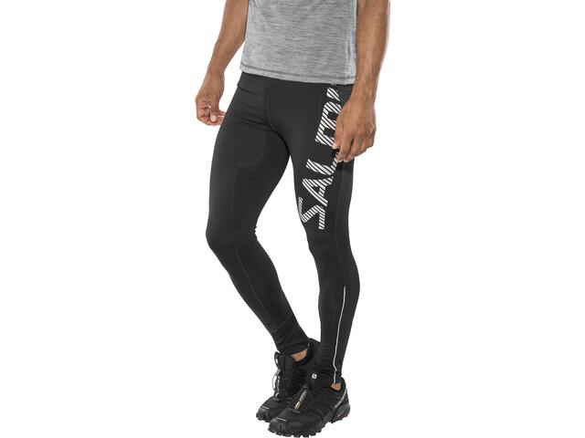 chaussures de sport 1a668 63e33 Salming Logo 2.0 - Pantalon running Homme - blanc/noir